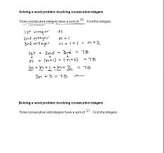 Solving a word problem involving consecutive integers - YouTube