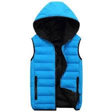 <b>New</b> Autumn Winter Hooded Vest Men Outerwear & Coats Lovers ...