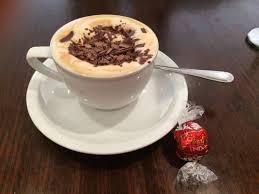 lindt master chocolatier chocolate shavings on cappuccino