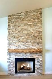 dry stack stone fireplace stacked with raw edge cypress mantel outdoor