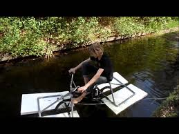 The 50 Amphibious Bicycle Home Made Part 1 Youtube