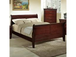 Louis Philippe Bedroom Furniture Lifestyle Louis Phillipe Full Wood Sleigh Bed Royal Furniture