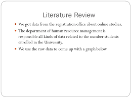 Sample Of Literature Review Apa Style