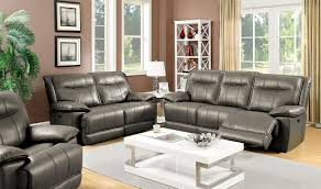 Leather Reclining Living Room Sets Sofa Astounding Gray Leather Reclining Sofa 2017 Ideas Gray