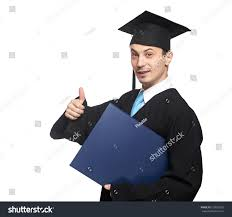 happy graduated student diploma thumb isolated stock photo  happy graduated student diploma and thumb up isolated on white background