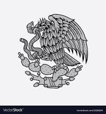 Mexican Eagle And Snake Tattoo
