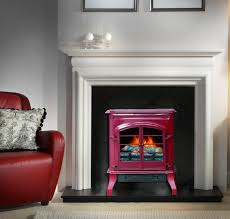 classic decor flame electric stove heater realistic flame effect glossy red
