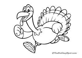 running turkey clipart black and white. Coloring Book And Pictures To Color For Thanksgiving Day Clip Art Black White Stock Running Turkey Clipart