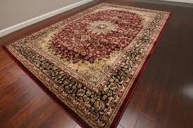 Amazon.com: Feraghan/New City Traditional Isfahan Wool Persian ...