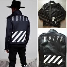 off white jacket men locomotive style men slim fit leather clothing off white virgil abloh motorcycle