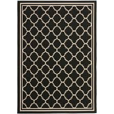 safavieh courtyard black beige 4 ft x 6 ft indoor outdoor area