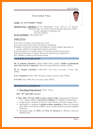 Sample Resume For Hindi Teacher In India Templates English