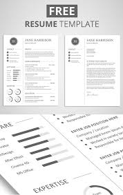 Elegant Resume Templates Enchanting 48 Free Elegant Modern CV Resume Templates PSD Freebies