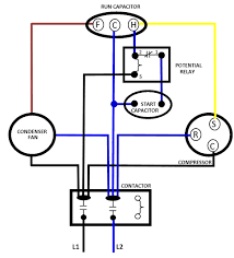 beautiful condenser fan motor wiring diagram pictures images for 3 wire motor with capacitor at Condenser Fan Wiring Diagram