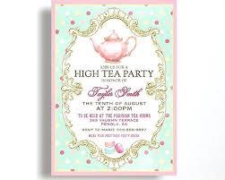 tea party templates bridal shower invitations amazing free tea party invitation