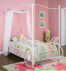 Princess Emily Canopy Twin Bed - Bedroom