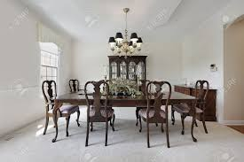 stock photo traditional formal dining room with white carpeting traditional f90 dining