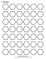 8 inch hexagon pattern. Use the printable outline for crafts ... & Tons of hexie printable sizes. Does not measure how quilters measure!!  Measure width Adamdwight.com