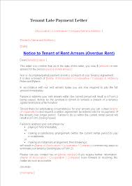 Tenant Late Payment Letter Templates At