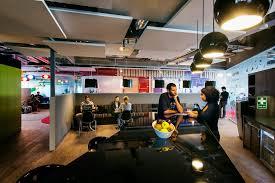 Google office cafeteria Outside Communicationhubontheappinessfloor3cbr3ephoto Designboom Camenzind Evolutions Google Office Flourishes In Dublin
