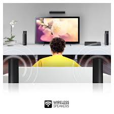 sony tv with built in speakers. free your living room from cables with rear wireless speakers. sony tv built in speakers