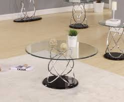 awesome round glass coffee table black glass side table