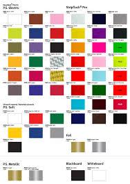 Siser Color Chart Colour Guide Siser