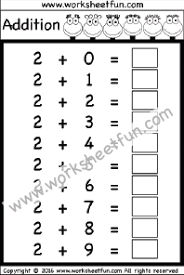 Addition Basic Facts Chart Addition Basic Addition Facts Free Printable Worksheets