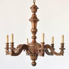 antique belgan wood chandelier