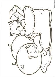 Coloring Page Christmas Cats Coloringme