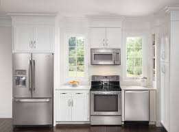 Upscale Kitchen Appliances White Appliances And Cant Decide On White Or Dark Cabinets Cool