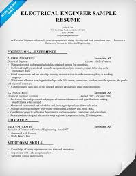 Resume Sample Electrical Engineer
