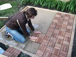 how to lay patio pavers over dirt designs