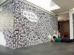 Brazilian artist Guilherme Kramer we see people in the crowd wall mural