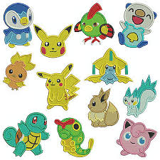 Machine Embroidery Patterns Cool POKEMON FACES Machine Applique Embroidery Patterns 48 Designs
