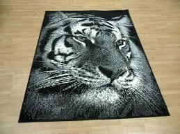 black white tiger rug print safari range
