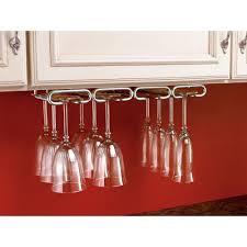 Wine Glass Hangers Under Cabinet Rev A Shelf 2 In H X 17 In W X 11 In D Under Cabinet Hanging