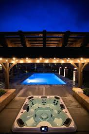 elegant in ground hot tubs in ground at night above ground hot tub cost