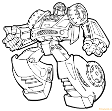 transformers rescue bots coloring page free pages in bot
