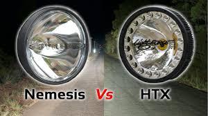 Hybrid Driving Lights Fyrlyt Nemesis Vs Lightforce Genesis Led