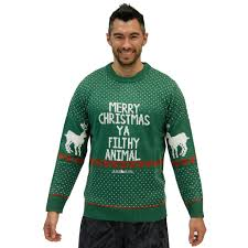 Official Home Alone - Merry Christmas Ya Filthy Animal Green Sweater