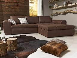 Wohnlandschaft Cassia 290x213cm Braun Antiklederoptik Couch
