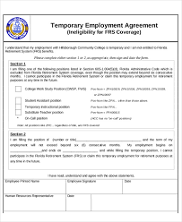 Temporary Employment Contract Template 6 Temporary Employment Agreement Templates Pdf Google