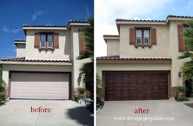 painting aluminum garage door new faux wood doors e project a weekend