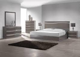 modern gloss grey master bedroom set