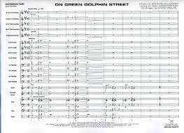 Green Dolphin Street Chart On Green Dolphin Street Jazz Classics Jazz Ensemble Big