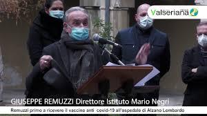 Giuseppe Remuzzi primo a ricevere il vaccino anti covid 19 all'ospedale di  Alzano Lombardo - YouTube