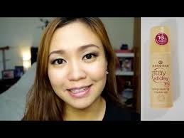 essence stay all day 16h long lasting foundation first impression review alog