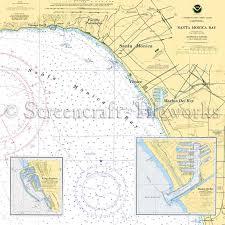 California Nautical Charts California Santa Monica Venice Marina Del Rey Nautical Chart Decor