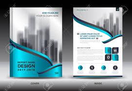 Blue Cover Annual Report Brochure Flyer Template Creative Design